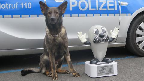 Onkel Otto mit Polizeihund Barry