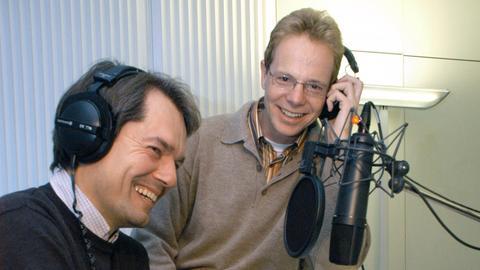 hr-Kirchenredaktion: Klaus Hofmeister (links) und Lothar Bauerochse