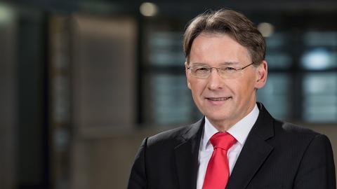 Fernsehkorrespondent Thomas Kreutzmann im ARD-Hauptstadtstudio