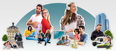 Rundfunkgebuehren diverse Kampagnenmotive mit Menschen im Alltag